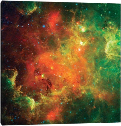 Clusters Of Young Stars In The North American Nebula Canvas Art Print