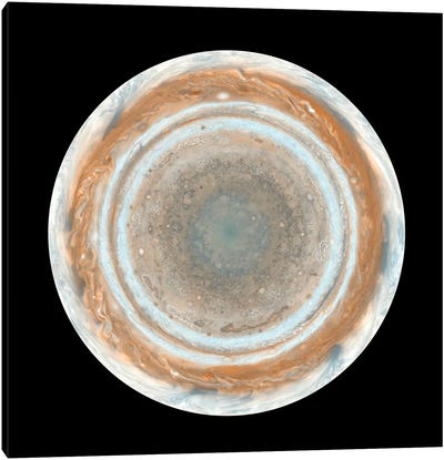 Color Map Of Jupiter II Canvas Art Print