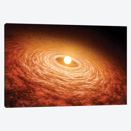 Disk Of Material Surrounding Star FU Orionis Canvas Print #TRK1453} by Stocktrek Images Art Print