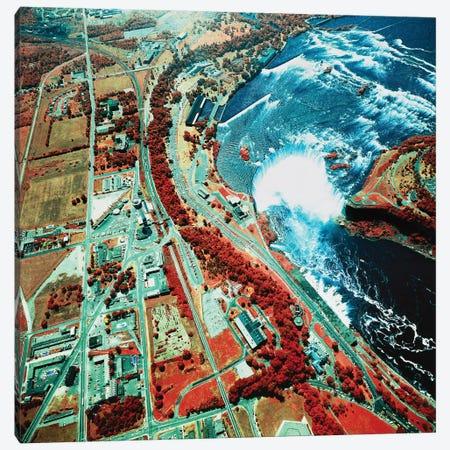 Eagle Eye View Of Niagara Falls Canvas Print #TRK1455} by Stocktrek Images Canvas Artwork