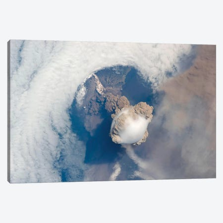 Eruption Of Sarychev Volcano I Canvas Print #TRK1460} by Stocktrek Images Canvas Artwork