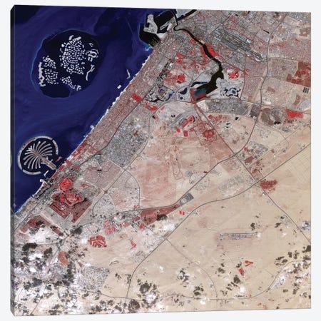 False Color Image Of Part Of Dubai Canvas Print #TRK1462} by Stocktrek Images Canvas Artwork