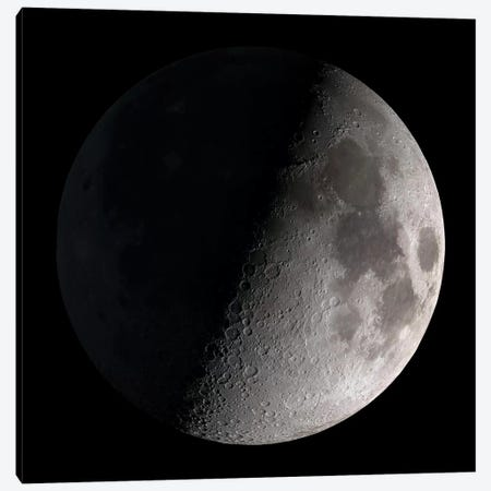 First Quarter Moon Canvas Print #TRK1466} by Stocktrek Images Canvas Print