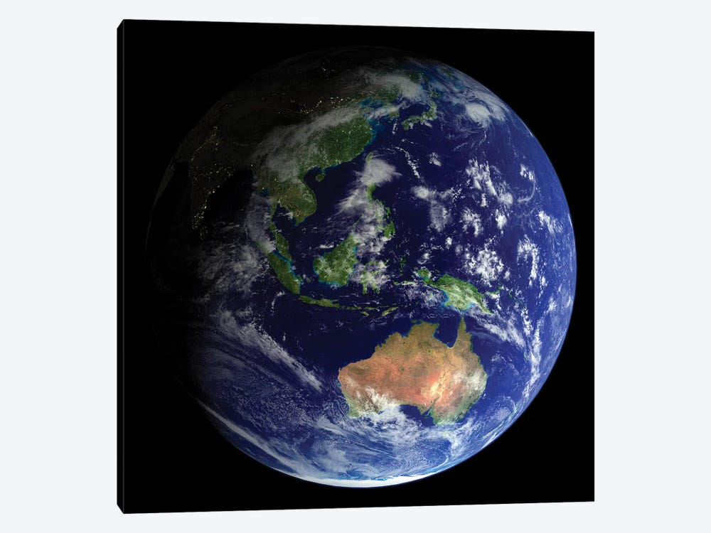 Full Earth From Space Showing Australia by Stocktrek Images 1-piece Art Print