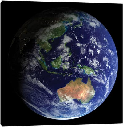 Full Earth From Space Showing Australia Canvas Art Print