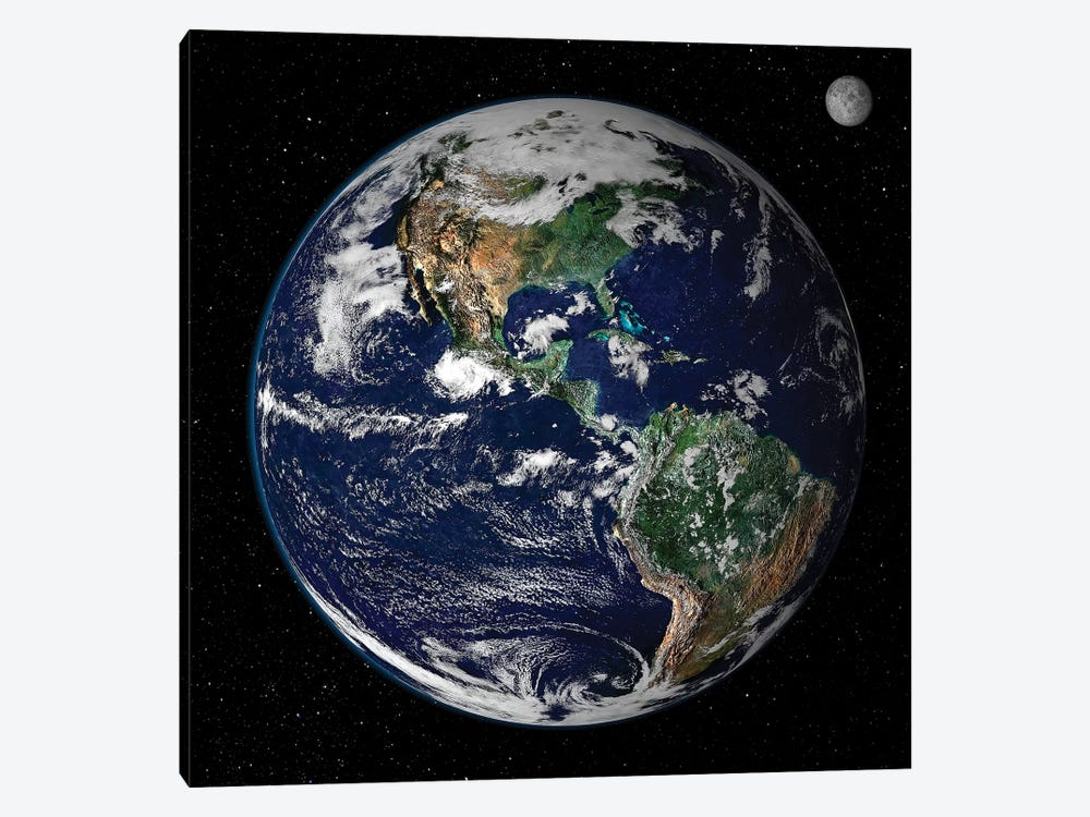 Full Earth Showing North And South America I by Stocktrek Images 1-piece Canvas Art Print