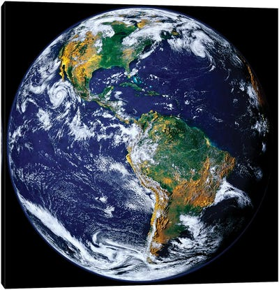 Full Earth Showing North And South America II Canvas Art Print