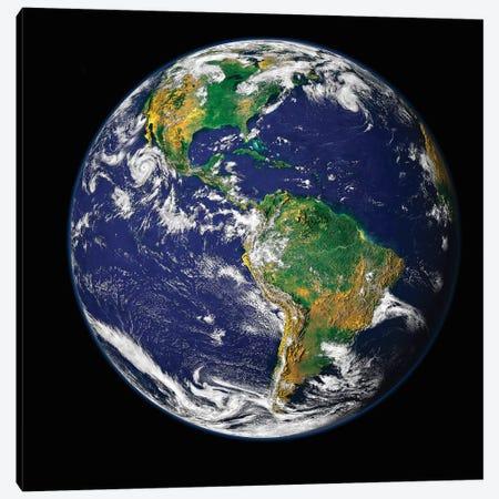 Full Earth Showing The Western Hemisphere Canvas Print #TRK1478} by Stocktrek Images Canvas Print