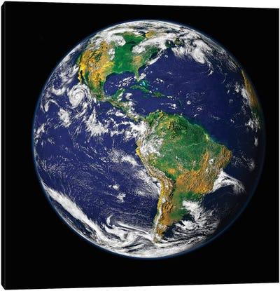 Full Earth Showing The Western Hemisphere Canvas Art Print
