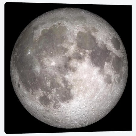 Full Moon II Canvas Print #TRK1481} by Stocktrek Images Canvas Wall Art