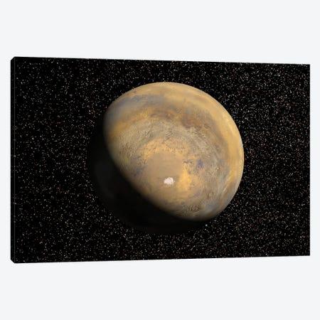 Global View Of Mars Canvas Print #TRK1490} by Stocktrek Images Canvas Art Print