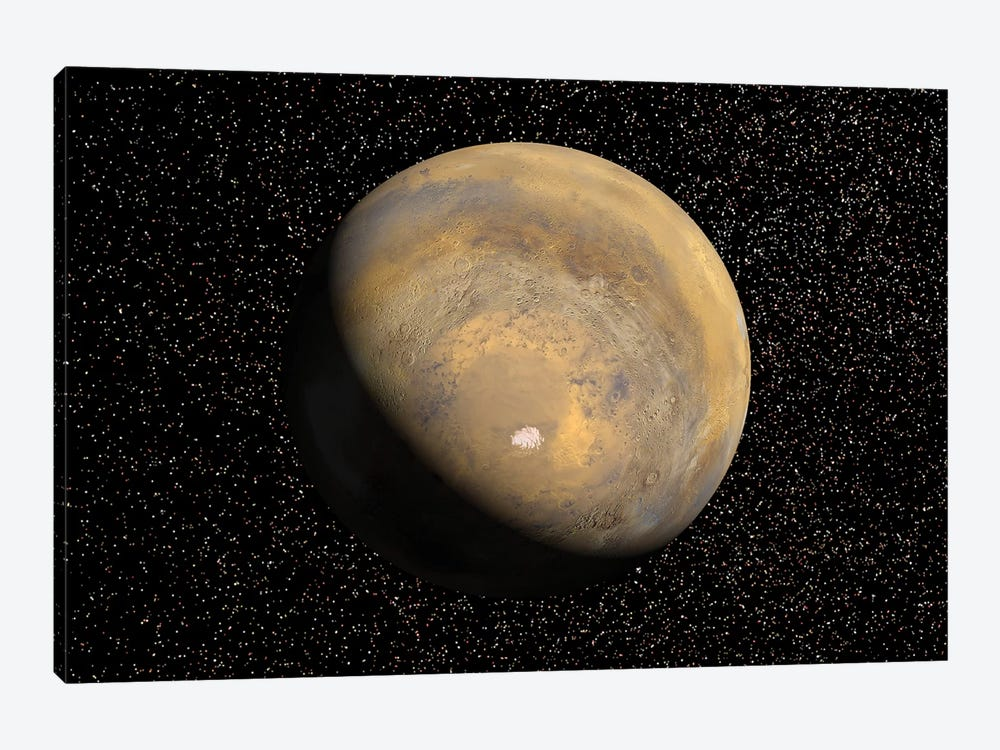 Global View Of Mars by Stocktrek Images 1-piece Canvas Art Print