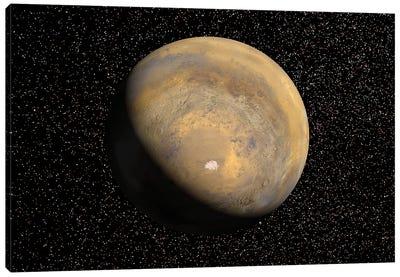 Global View Of Mars Canvas Art Print