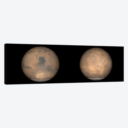 Global Views Of Mars In Late Northern Summer Canvas Print #TRK1493} by Stocktrek Images Canvas Print