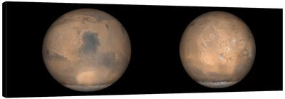 Global Views Of Mars In Late Northern Summer Canvas Art Print