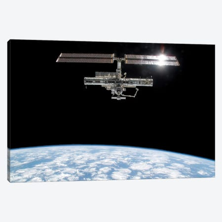 International Space Station I Canvas Print #TRK1501} by Stocktrek Images Art Print