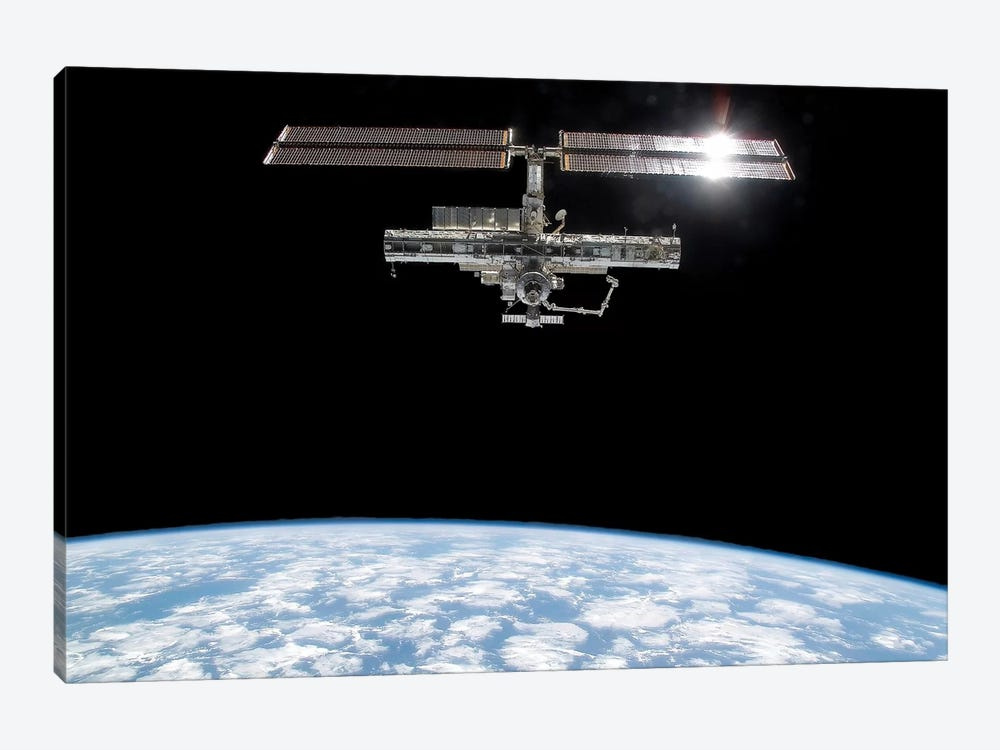 International Space Station I by Stocktrek Images 1-piece Canvas Wall Art