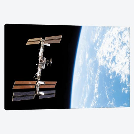 International Space Station III Canvas Print #TRK1503} by Stocktrek Images Art Print