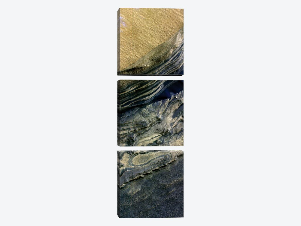 Layers Exposed At Polar Canyon by Stocktrek Images 3-piece Canvas Artwork