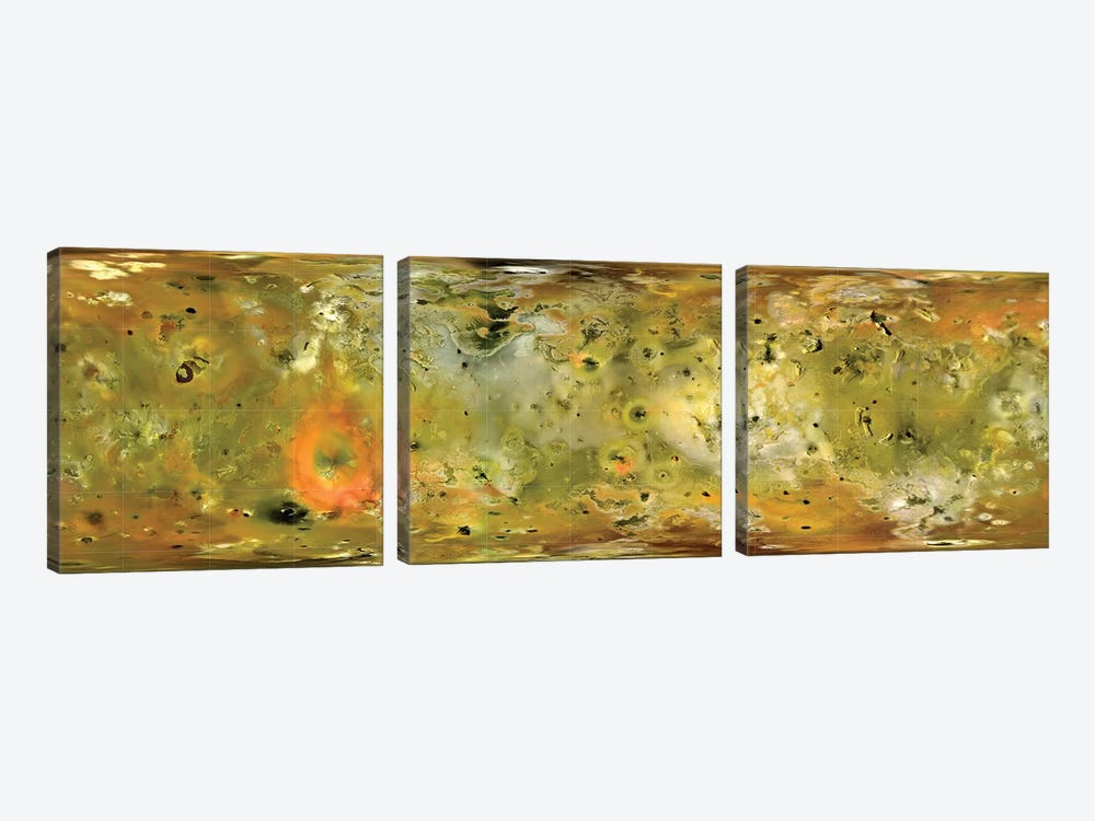 Map Of Jupiter's Moon Io by Stocktrek Images 3-piece Art Print