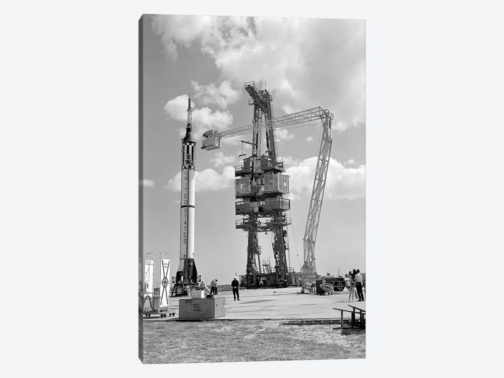 Mercury-Redstone 3 Prelaunch Activities On The Mercury 5 Launch Pad by Stocktrek Images 1-piece Canvas Art Print
