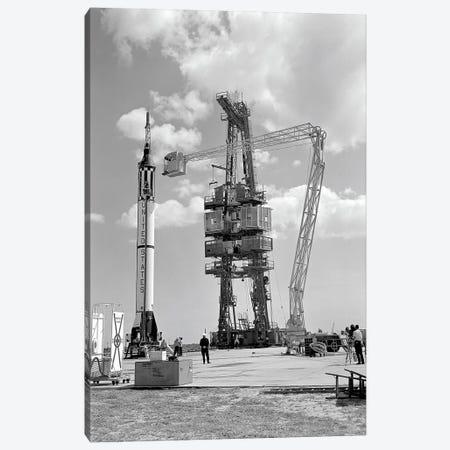 Mercury-Redstone 3 Prelaunch Activities On The Mercury 5 Launch Pad Canvas Print #TRK1526} by Stocktrek Images Canvas Artwork