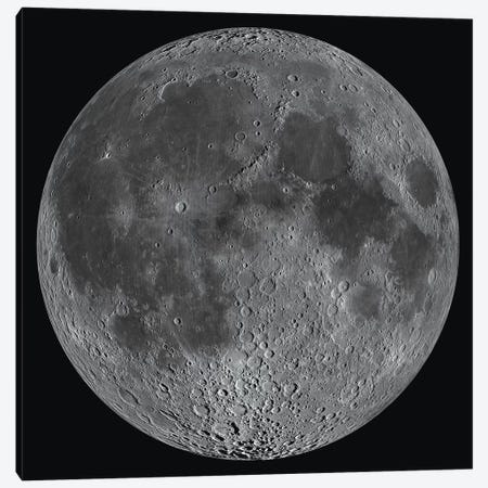 Mosaic Of The Lunar Nearside Canvas Print #TRK1528} by Stocktrek Images Canvas Art Print