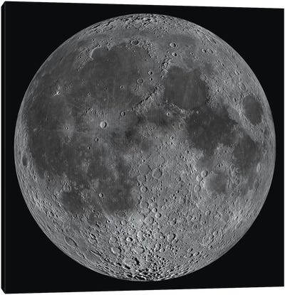 Mosaic Of The Lunar Nearside Canvas Art Print