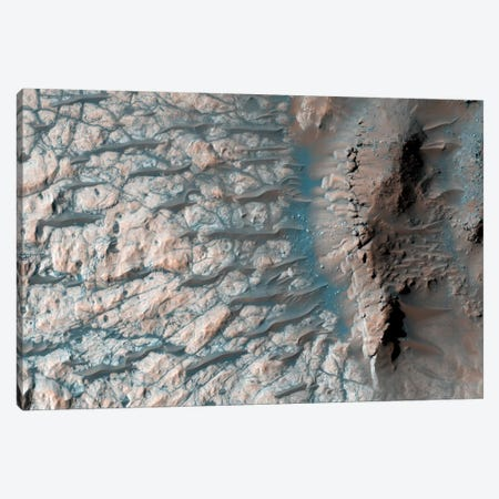 Part Of The Floor Of A Large Impact Crater In The Southern Highlands On Mars Canvas Print #TRK1536} by Stocktrek Images Canvas Print