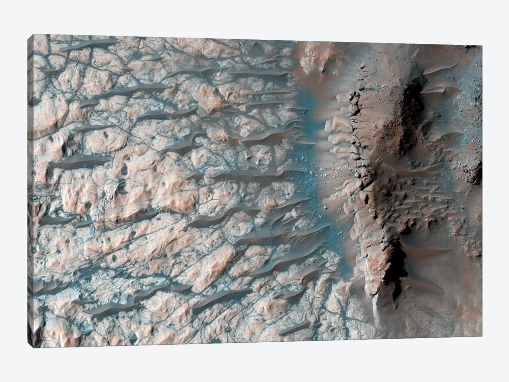 Part Of The Floor Of A Large Impact Crater In The Southern Highlands On Mars by Stocktrek Images 1-piece Canvas Wall Art