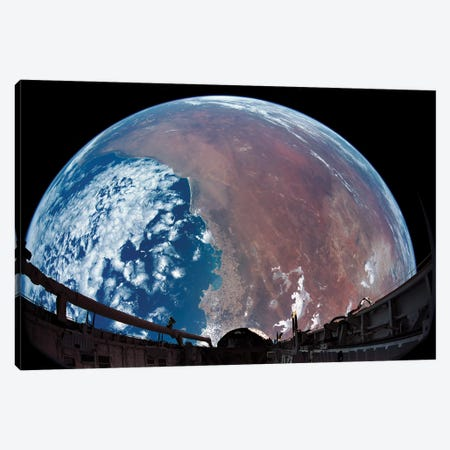 Payload Bay Camera View Of Australia Canvas Print #TRK1537} by Stocktrek Images Canvas Print