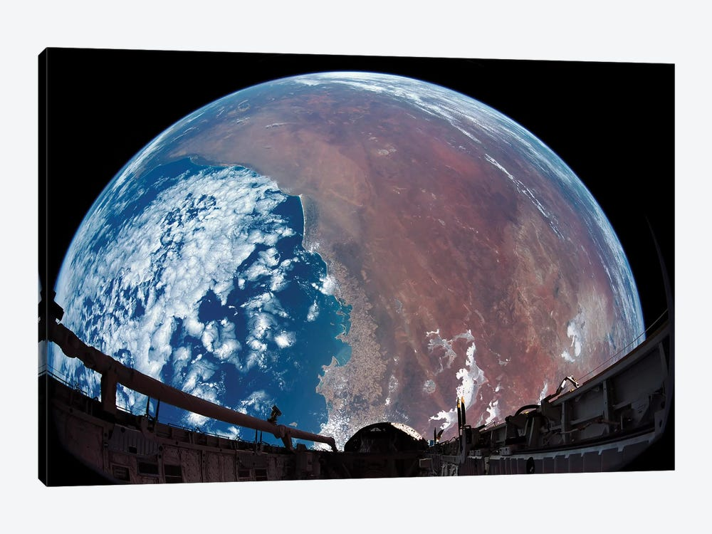 Payload Bay Camera View Of Australia by Stocktrek Images 1-piece Art Print