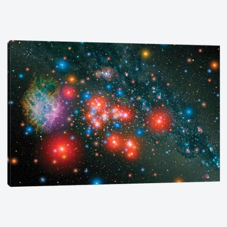 Red Super Giant Cluster With Associated Supernova Remnant Canvas Print #TRK1542} by Stocktrek Images Art Print