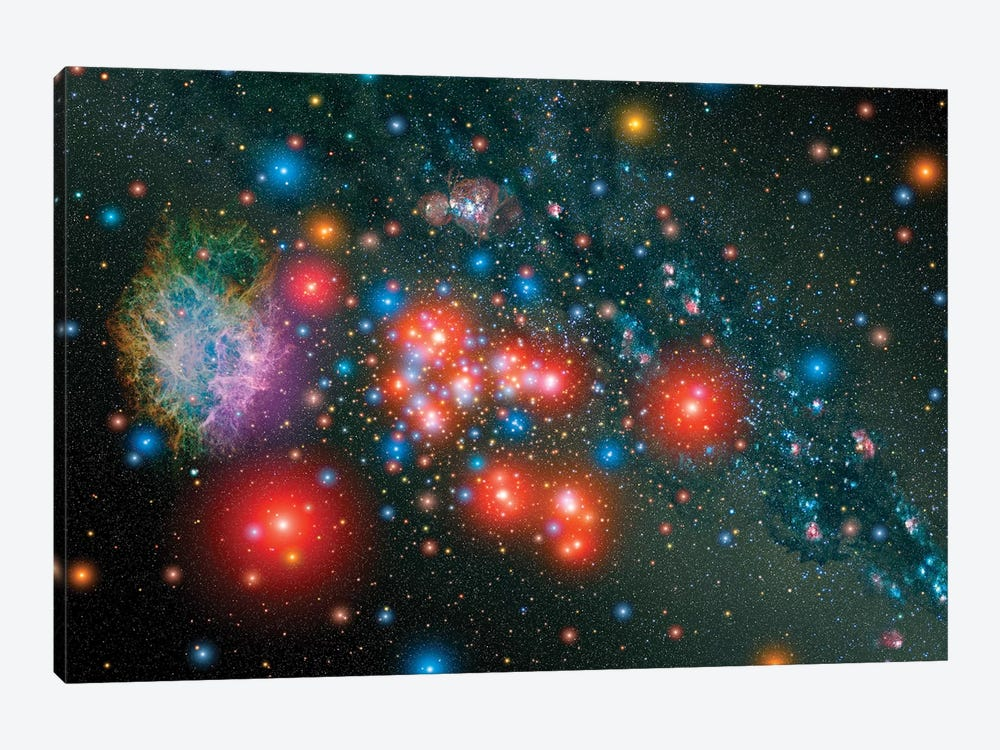 Red Super Giant Cluster With Associated Supernova Remnant by Stocktrek Images 1-piece Canvas Art Print