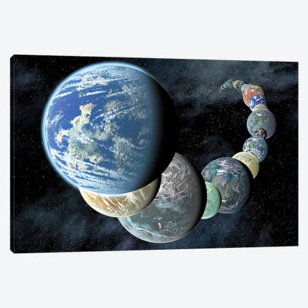 Rocky, Terrestrial Worlds Canvas Print #TRK1544} by Stocktrek Images Canvas Wall Art