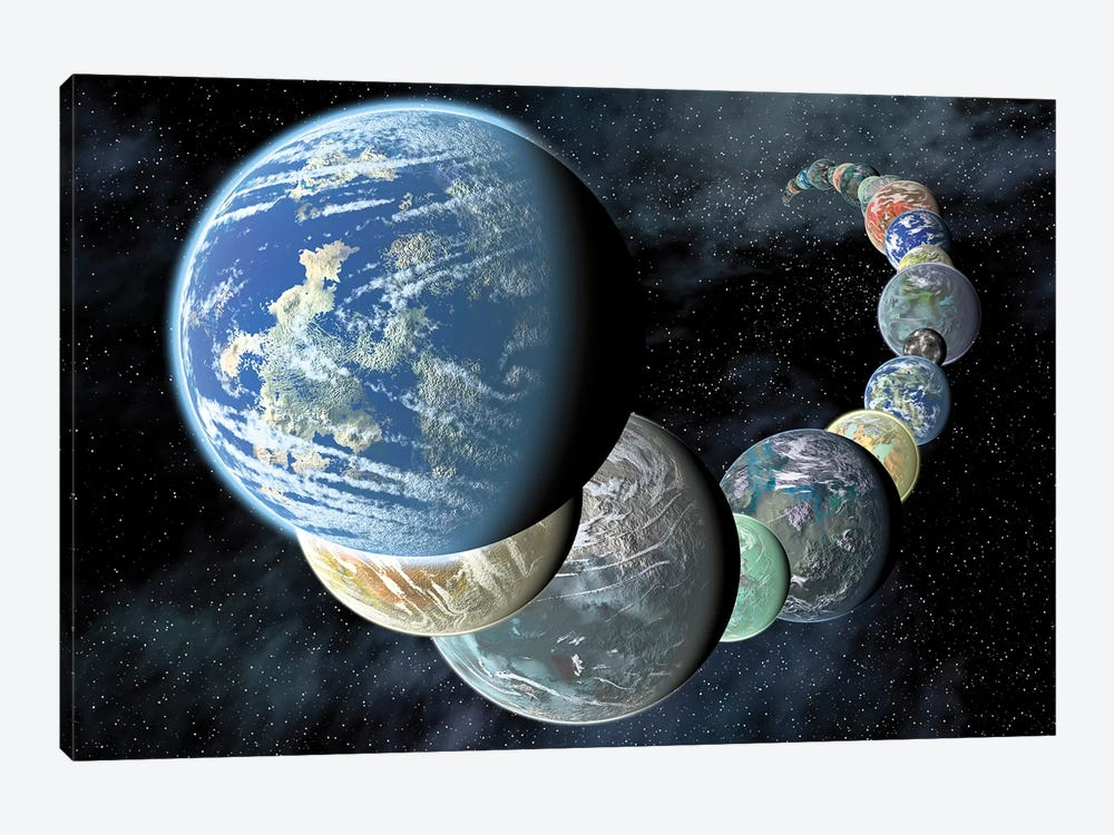 Rocky, Terrestrial Worlds by Stocktrek Images 1-piece Canvas Art Print
