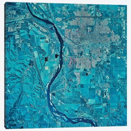 Bismarck, North Dakota Canvas Print #TRK1556} by Stocktrek Images Canvas Print