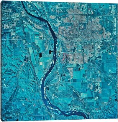 Bismarck, North Dakota Canvas Art Print