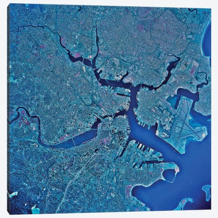 Boston, Massachusetts 3-Piece Canvas #TRK1558} by Stocktrek Images Canvas Art