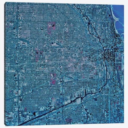 Chicago, Illinois Canvas Print #TRK1564} by Stocktrek Images Canvas Wall Art