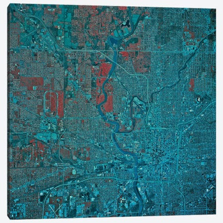 Indianapolis, Indiana 3-Piece Canvas #TRK1580} by Stocktrek Images Art Print
