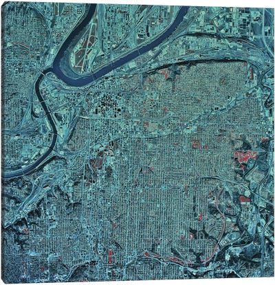 Kansas City, Missouri Canvas Art Print