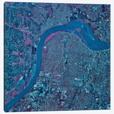 Louisville, Kentucky Canvas Print #TRK1589} by Stocktrek Images Canvas Art Print