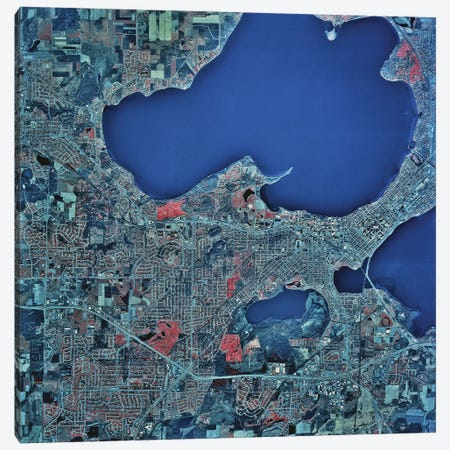 Madison, Wisconsin Canvas Print #TRK1590} by Stocktrek Images Canvas Artwork