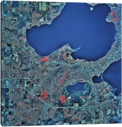 Madison, Wisconsin Canvas Art Print