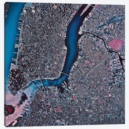 Manhattan & Brooklyn, New York Canvas Print #TRK1591} by Stocktrek Images Canvas Wall Art