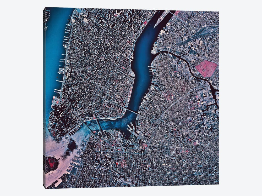 Manhattan & Brooklyn, New York by Stocktrek Images 1-piece Art Print