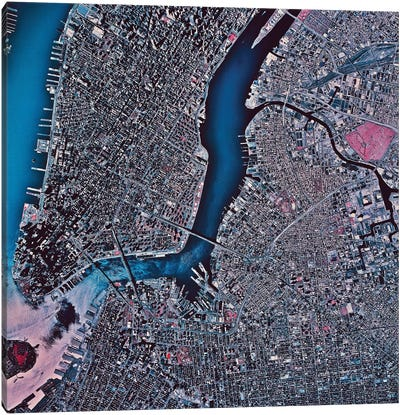 Manhattan & Brooklyn, New York Canvas Art Print