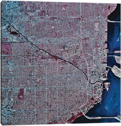 Miami, Florida Canvas Art Print