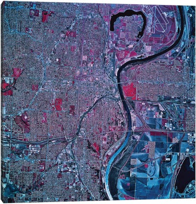 Omaha, Nebraska Canvas Art Print